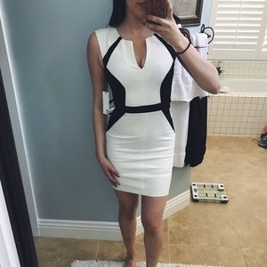 Kaii Dresses & Skirts - White and black two tone dress