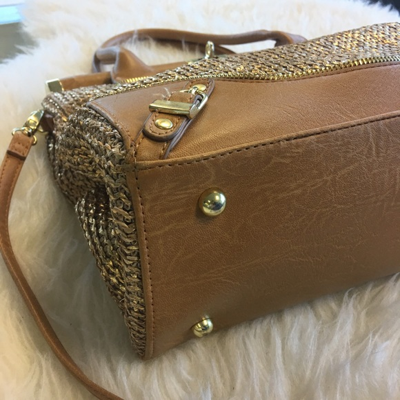 Olivia + Joy Bags - Olivia + Joy Gold Miss Priss Satchel Bag