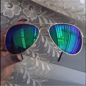 Leoninus Accessories - ☀️NEW☀️Peacock Colors Mirror Aviators