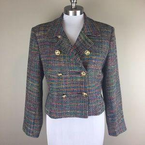 helene sidel Jackets & Blazers - ❗️Vintage Multicolor Tweed Blazer