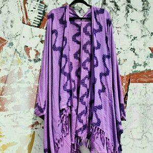 Ketzali  Accessories - Ketzali Yuqutik Kimono Poncho