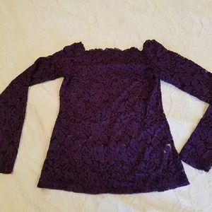PattyBoutik Sweaters - Beautiful purple lace sweater.