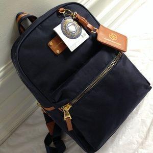 Adrienne Vittadini Handbags - Adrienne Vittadini Navy Blue Nylon Backpack