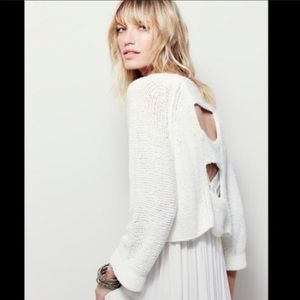 Free People Sweaters - Free People Endless stories crop sweater
