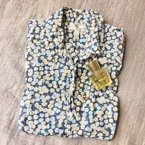 J. Crew Tops - J. Crew Perfect Shirt - Floral Print (EUC!)