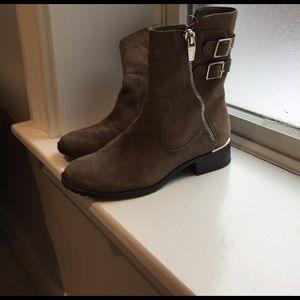 Calvin Klein brown suede boots