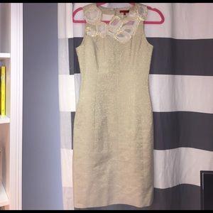 Vivienne Tam Dresses & Skirts - Vivienne Tam Gold Fitted Dress