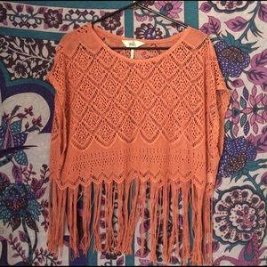 Black Poppy Tops - Pac sun Crochet top
