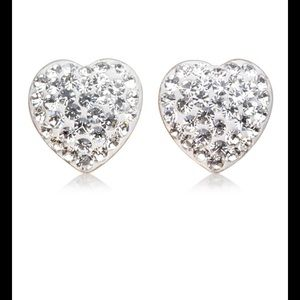 Jewelry - 2 ct. Sterling Silver Swarovski Heart Earrings