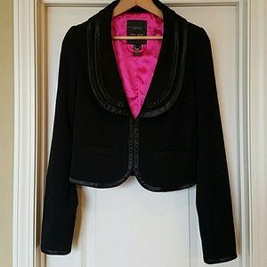 Sanctuary Jackets & Blazers - Sanctuary LA Black Satin Trimmed Crop Blazer
