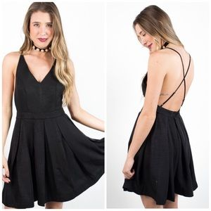 MINKPINK Dresses & Skirts - NWT Minkpink Halter CrossBack Black Dress
