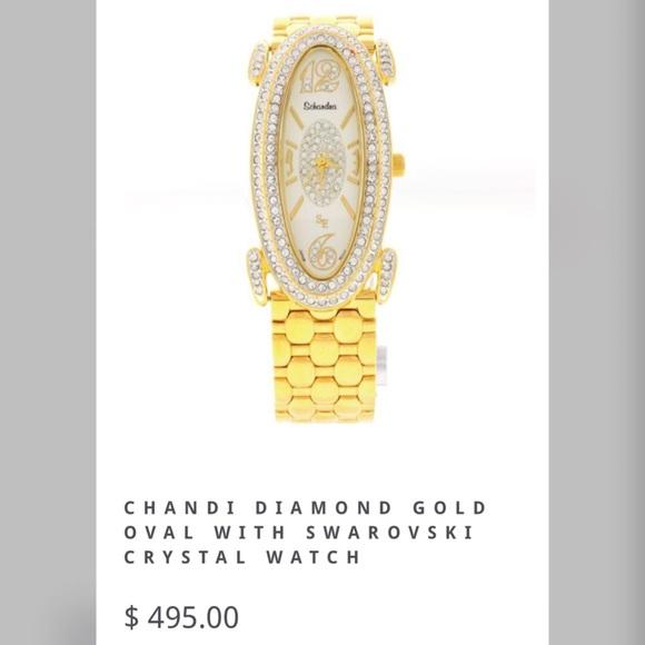faf1b1334 Jewelry | Bobby Schandra Chandi Gold Watch With Bling | Poshmark