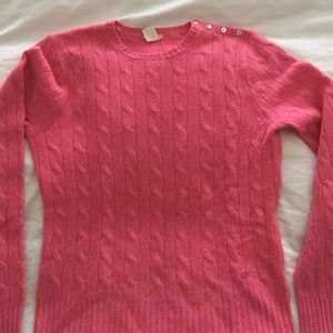 Jcrew cashmere sweater. Size med pink