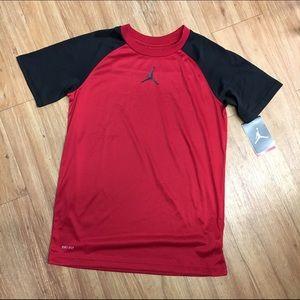 NEW NWT Jordan Varsity Red DriFit Shirt Black L