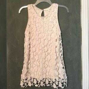 Adiva Tops - Adiva crochet lace top, size small.