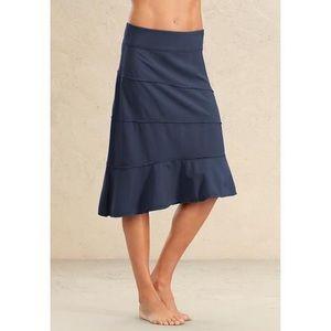 Athleta Dresses & Skirts - Athleta navy blue midi tiered skirt