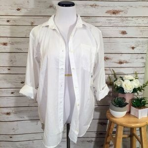 Ralph Lauren Boyfriend White Button Down Top
