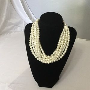 Jewelry - Vintage 7 Strand Pearl Necklace