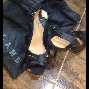 L.A.M.B. Shoes - High Heels open sandals. Wear once.Size 6M