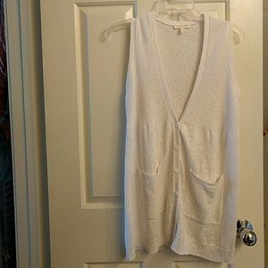 Eileen Fisher Tops - Eileen fisher white linen and cotton vest