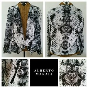 ALBERTO MAKALI cut out lightweight cardigan S