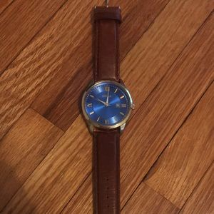 Blue Face Gold Trim Breda Watch