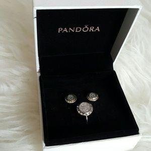 Pandora Jewelry - Pandora signature set earrings and ring