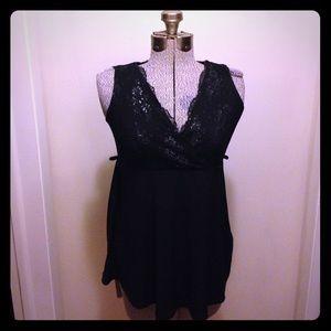 Olian Tops - Black lace Olian top, medium