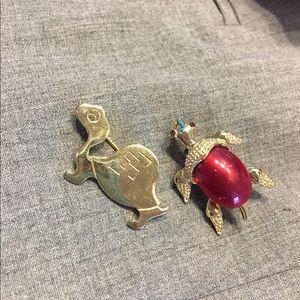 Vintage Turtle Pins