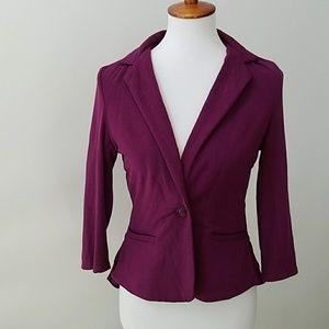 Stitch Fix Market & Spruce knit ruffle blazer 