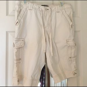 Eddie Bauer cream colored shorts