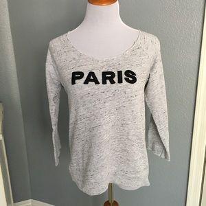 Monrow Tops - MONROW🗼Paris City Sweatshirt/Heather Gray
