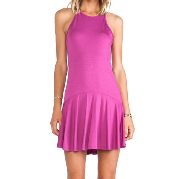 Trina Turk Dresses & Skirts - Trina Turk Drop-waist bright plum dress