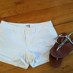 """White soft old navy shorts, 3"""" inseam."""