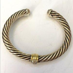 David Yurman Jewelry - Authentic David Yurman Cable Diamond Bracelet 7mm