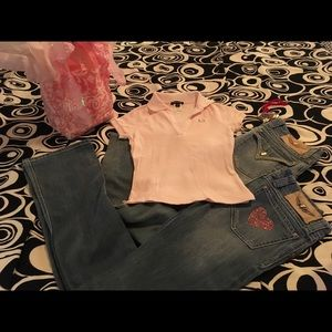 TWISTED HEART Denim - ❤️NEW TWISTED❤️HEART CRYSTAL HEART JEANS❤️
