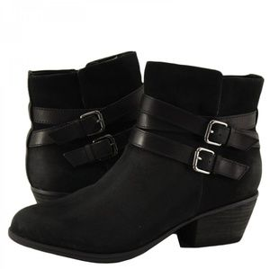 Clarks Shoes - Clarks Gelata Fresca Black Nubuck Leather Boot