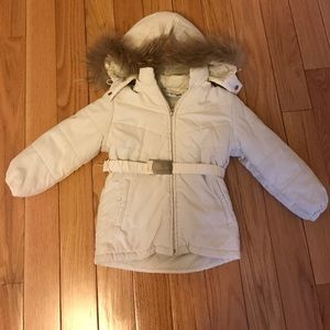 Tru Trussardi Other - Trussardi down jacket coat fur hood girls 4-5