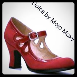 Mojo Moxy Shoes - Chic Red cut out heels by Dolce by Mojo Moxy