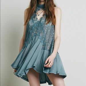 Free People Dresses & Skirts - Cross my Heart in lace tunic