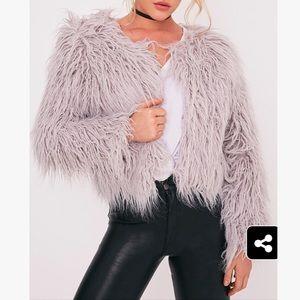 Shaggy Cropped Coat