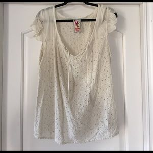 Johnny Was Tops - Johnny Was Ivory Top Size Large