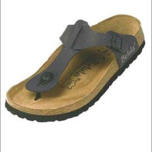 Birkenstock Shoes - New Betula Rap sandal. Nubuck jet black. 37.
