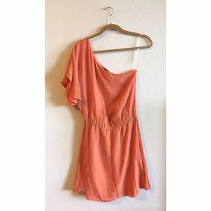 ⚡️ $5 Item! ⚡️ Peach/Orange One-Shoulder Dress