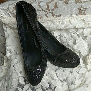 White house black market black sequins heels