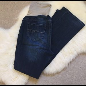 Indigo Blue Denim - Indigo Blue Boot Cut Maternity Jeans