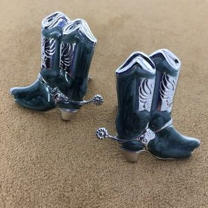 Jewelry - 🆕 Blue / Green Cowgirl Boots Earrings