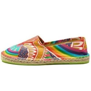 Mara Hoffman Shoes - Mara Hoffman Rainbow Bird Espadrilles flats shoes