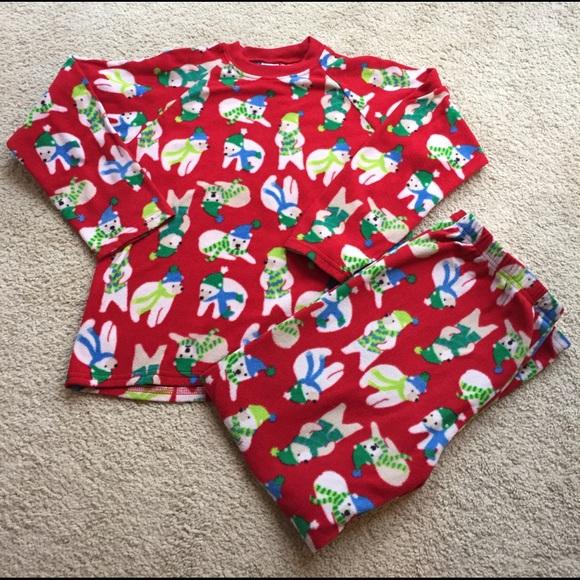 tcp fleece christmas polar bear pajama set