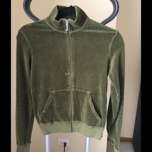 Juicy Couture Tops - Juicy couture khaki running jacket